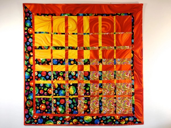 Modern Art Quilt Textile Quilted Fabric Wall Hanging