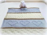 Baby Blanket Pattern, Knit Baby Blanket Pattern, Heart ...
