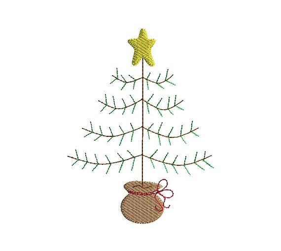 primitive christmas tree machine