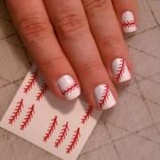 baseball threads nail decals