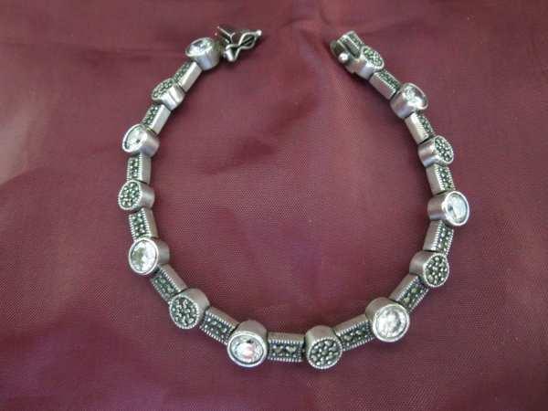 Vintage Silver Bracelet Judith Jack Stamped Sterling