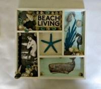 Beach living mermaid shadow box wall decor_beach home decor