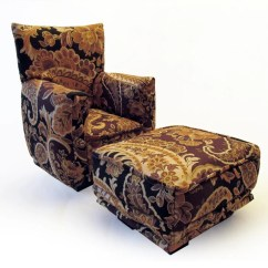 Black And White Paisley Chair Metal Patio Chairs With Cushions Barbie Doll Living Room Ottoman Dark Brown