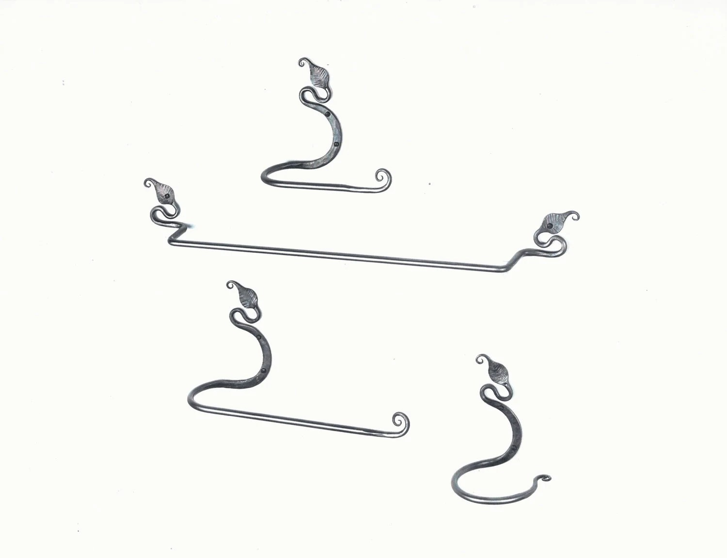 Bathroom towel bar set ivy leaf wrought iron towel bar