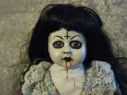 black hair doll halloween