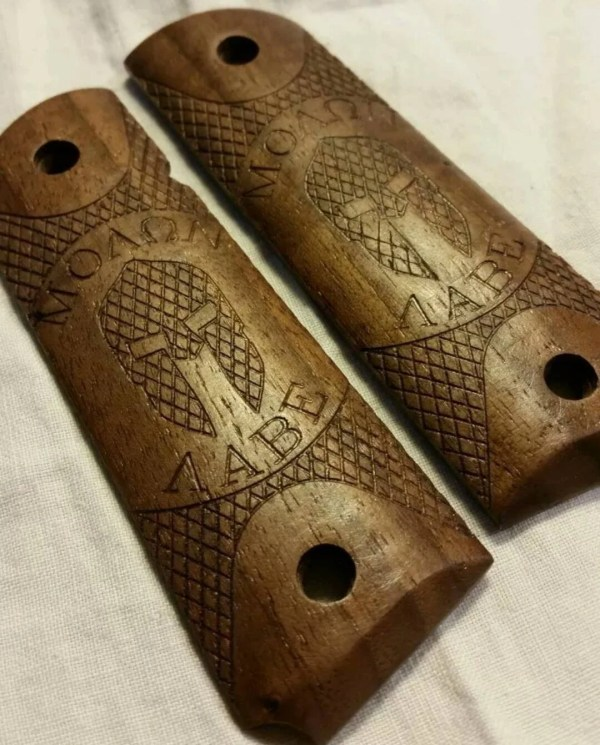Catacombs 1911 Grips Walnut Wood Pistol - Year of Clean Water