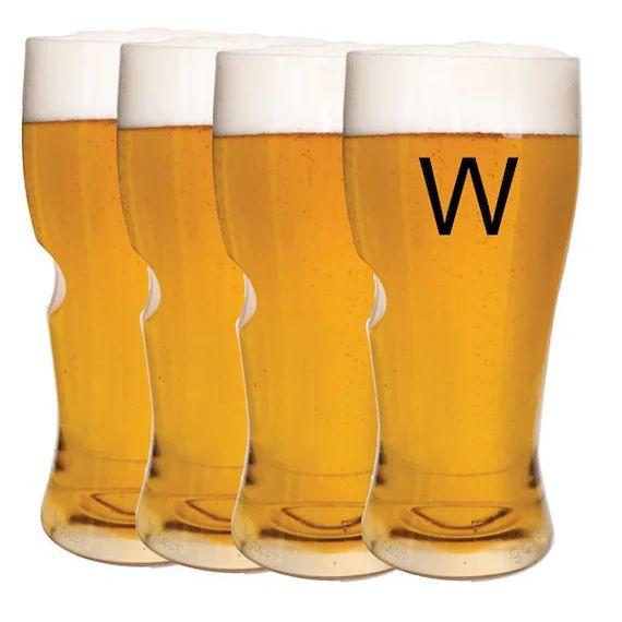 monogrammed beer glasses