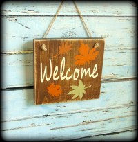 Rustic Welcome Sign Fall Decor Autumn Decor Front Door