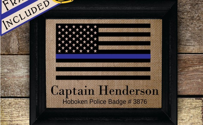 Personalized Police Officer Gifts Thin Blue Line Gifts For