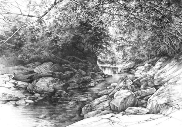 Original Pencil Landscape Katarzyna Kmiecik