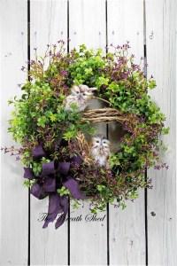 Owl Country Wreath Everyday Wreath Front Door Wreath
