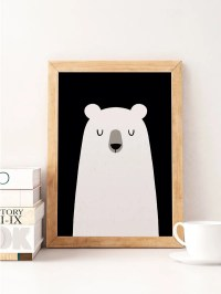 Bear print Cute bear Nursery wall decor Cute art work Bear