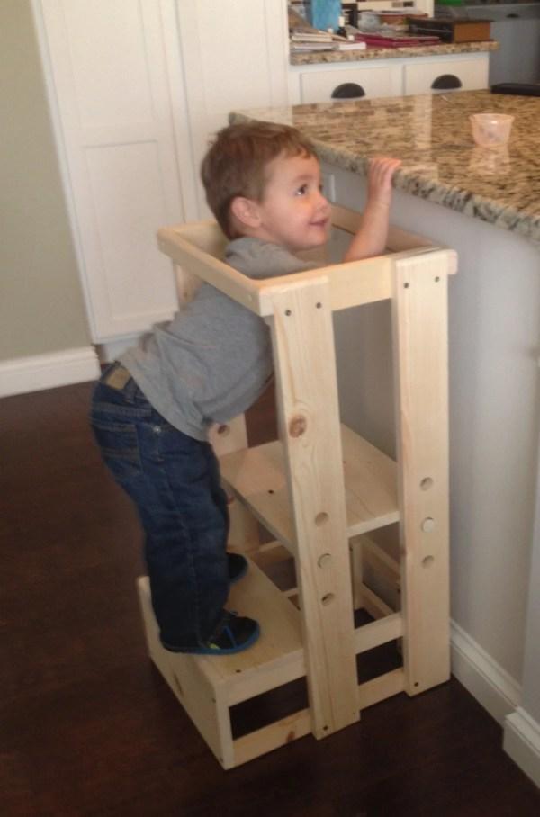 Child Kitchen Helper Step Stool Toddler Tot Tower