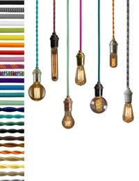 Pendant Light Custom Color Cloth Cord Edison by