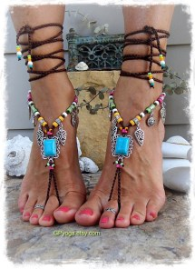Turquoise Boho Barefoot Sandals Festival Sandal Native Cowgirl