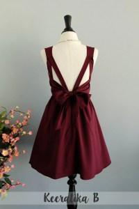 Maroon dress red dress maroon party dress dark red prom dress