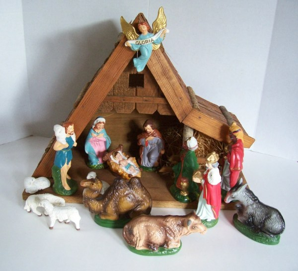 Pc Vintage Nativity Set Mid-century Christmas Creche Japan