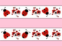 LADYBUG DECAL STICKERS Wallpaper Border Wall Art Baby Girl