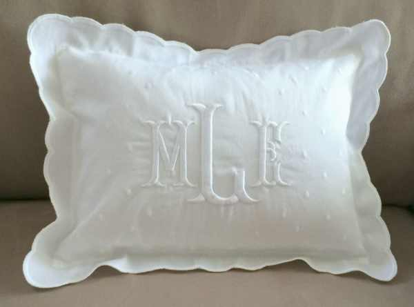 Monogrammed Baby Pillow