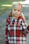 Girls Plaid Flannel Dress Long Sleeve Holiday