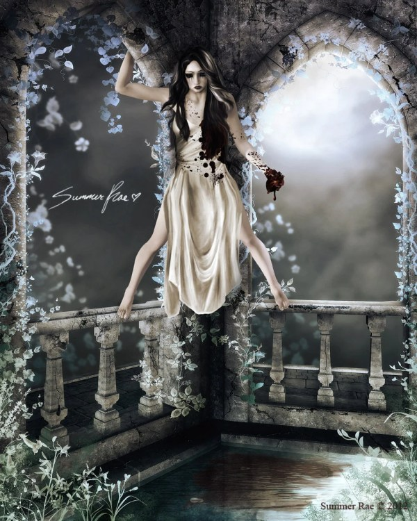 Gothic Art Print Dark Spooky Horror Emotional