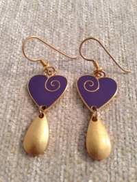 Laurel Burch Vintage Love Earrings by AvonBearsAndBeads on ...