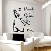 Beauty Salon Sticker Girl Face Art Wall Decals Vinyl by ...