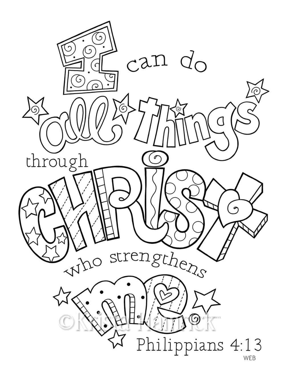 Philippians 4 13 Coloring Page Coloring Pages