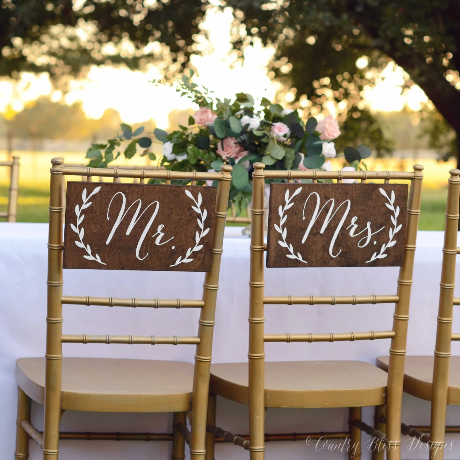 mr and mrs chair signs copa beach chairs table