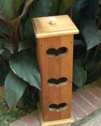 Primitive Wood Toilet Paper Holder Shabby Chic Heart Toilet