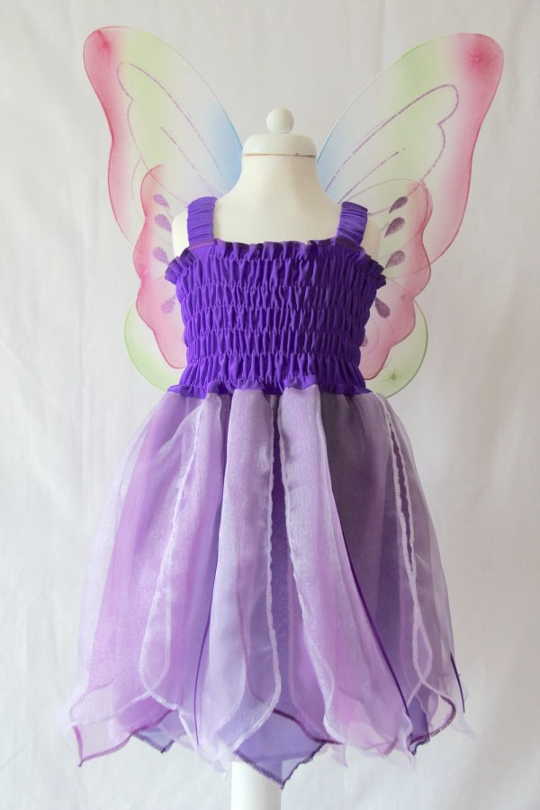 Purple Fairy Dress Costume Girl' Party