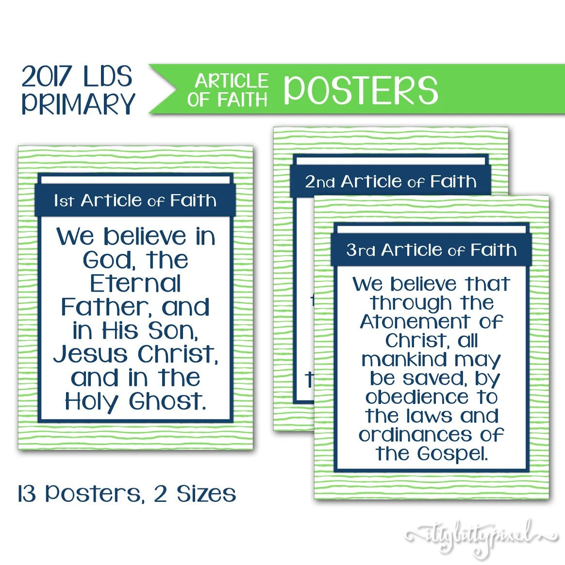 Articles Of Faith Poster Lds Primary Theme Printable