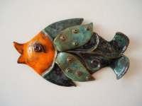 Wall fish ceramic wall art. Art fish. Pisces. Wall hanging