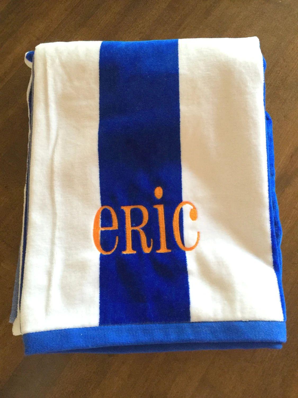 beach towels monogrammed