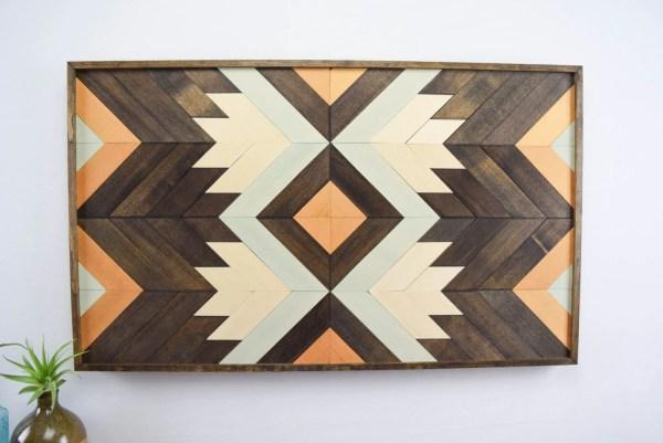 Wood Wall Art Abstract Hanging