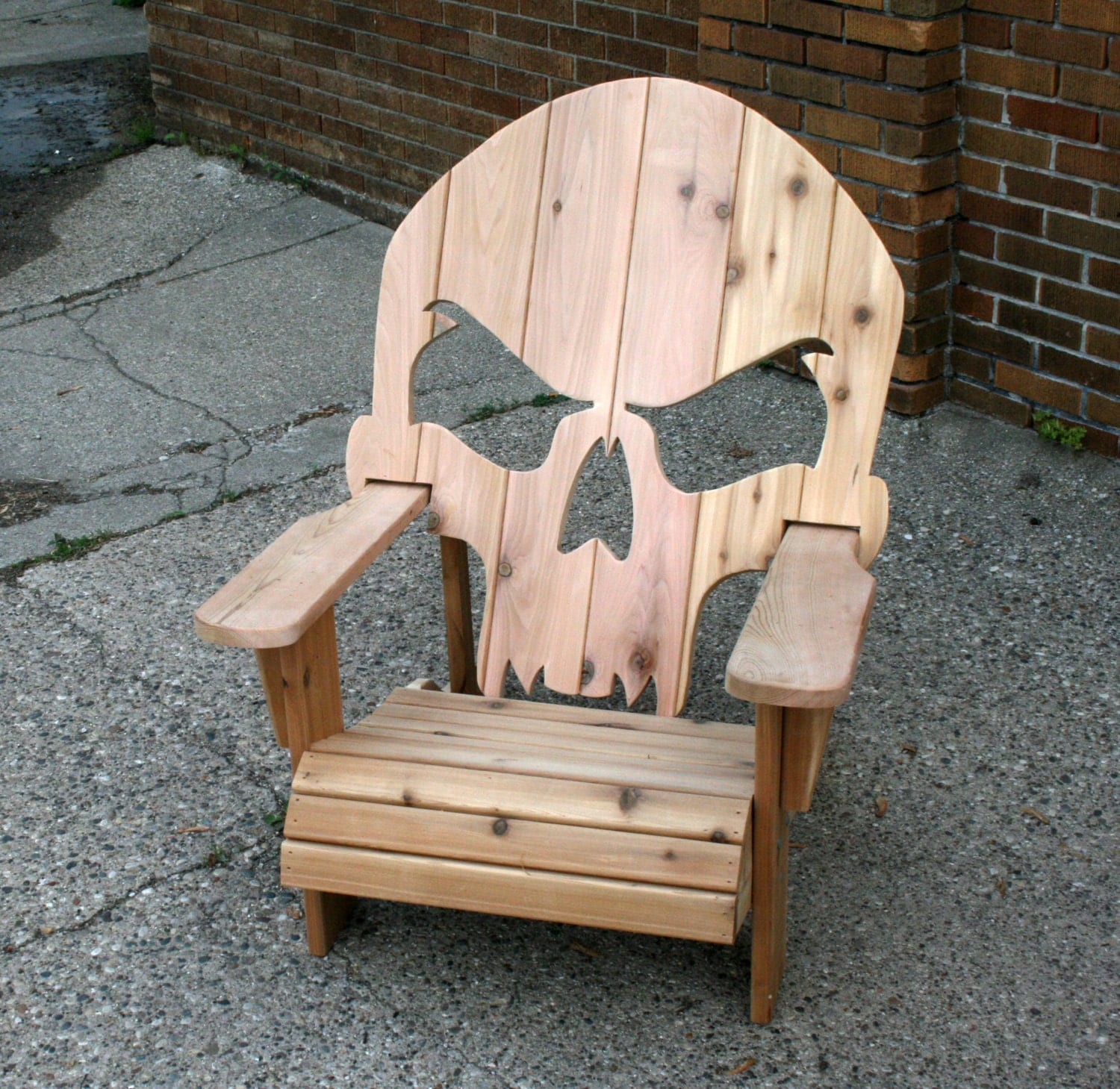 wooden skull chair sling patio chairs adirondack