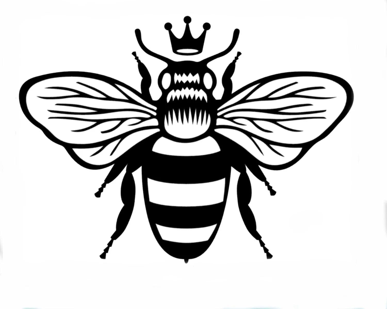 Queen Bee Vinyl Sticker