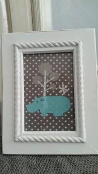 Hippo Framed Wall Art Hippo Nursery Art Children's