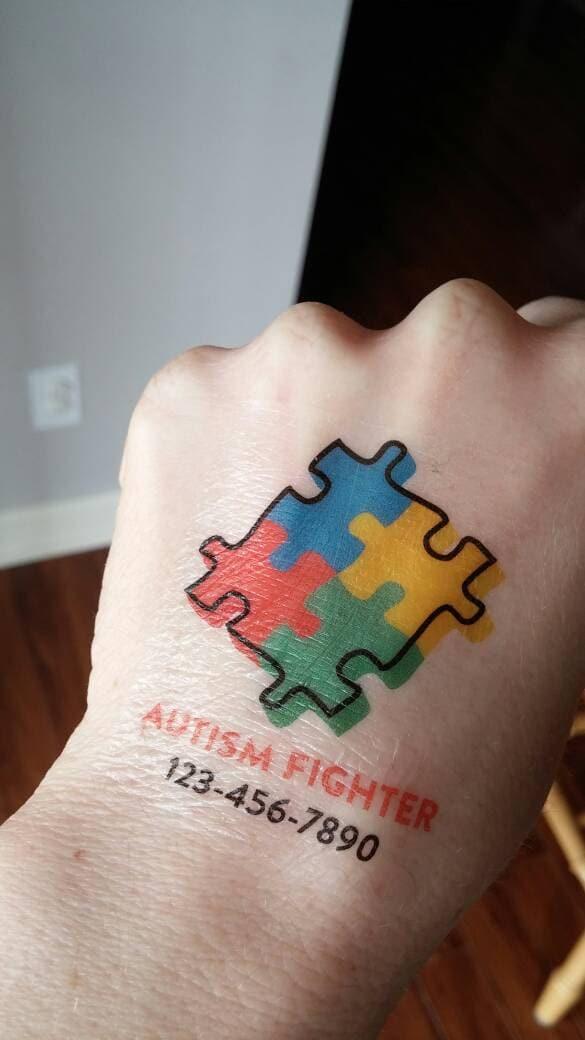autism tattoo medical phone