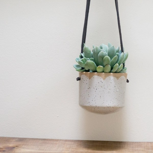 Ceramic Hanging Wall Planter Succulent Pot Sarahstearnsceramics