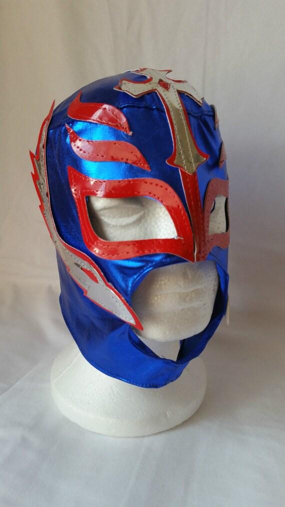 Rey Mysterio Blue Childs Size Wrestling Mask Wrestlingtrader