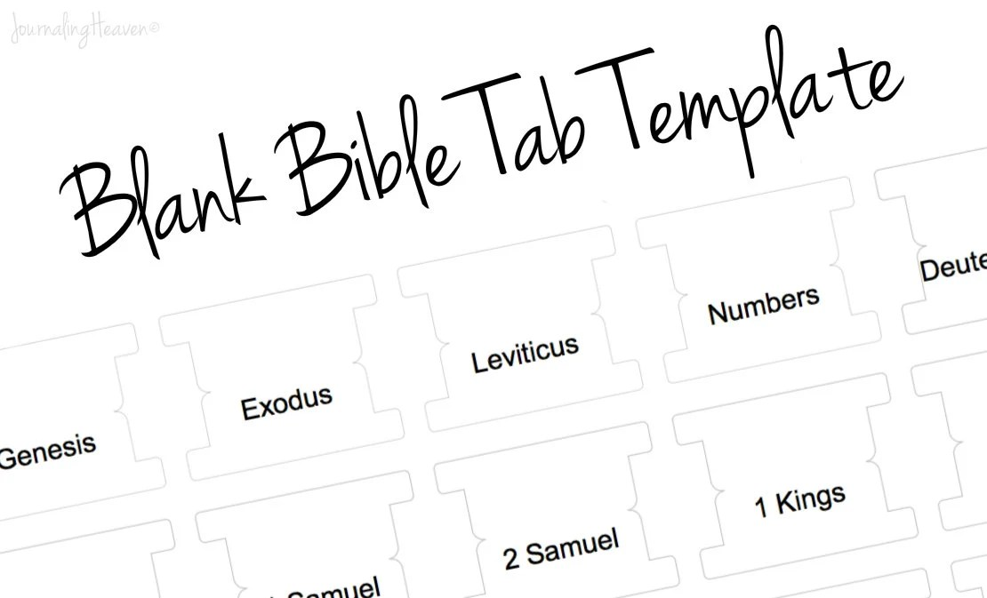 Printable DIY Blank Bible Tab Template Bible by