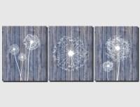 Dandelion Wall Art Canvas or Prints Beach Home Decor Blue