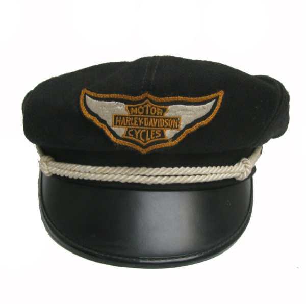Harley-davidson Road Captain Cap Vintage Mens Black Motorcycle