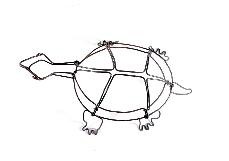 Turtle Wire Sculpture Wire Art Minimal Wire By Wiredbybud