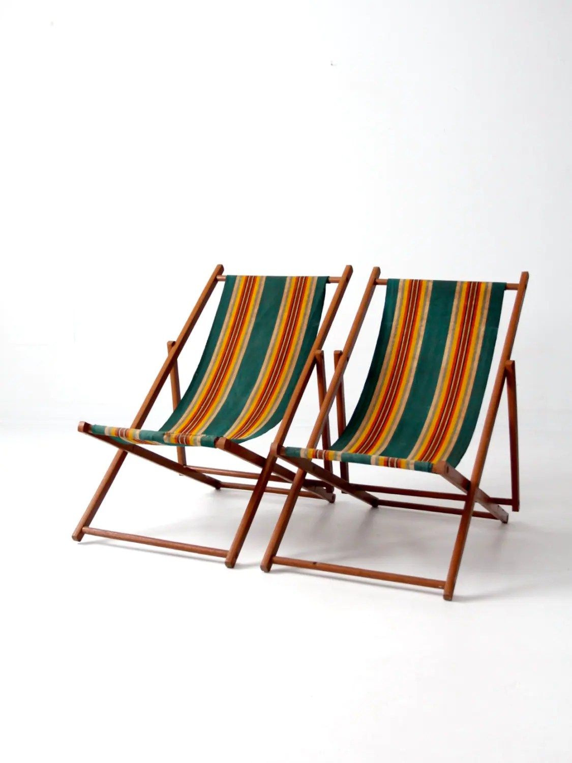 vintage beach chairs craft room office chair deck stripe folding