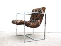 Mid Century Chrome Sling Lounge Chair by elefantdesign on Etsy