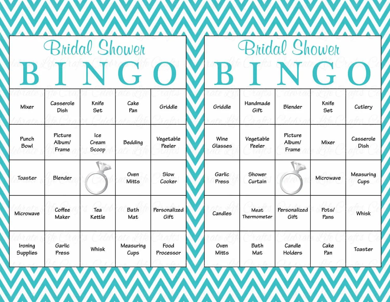 100 Bridal Bingo Cards Blank Amp 100 Prefilled Cards