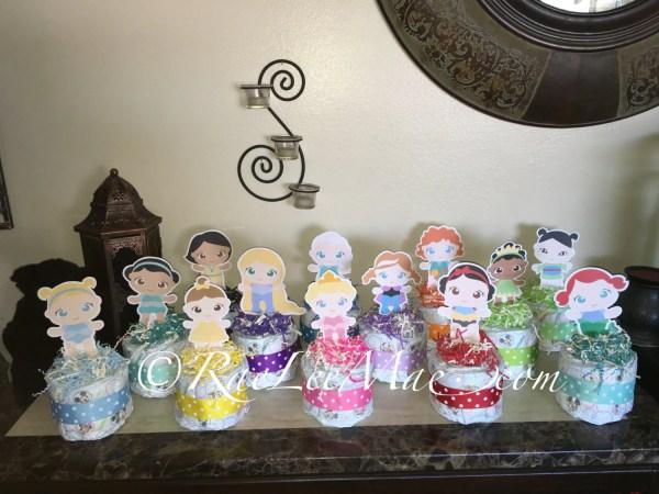 Baby Disney Princess Diaper Cake Mini Princesses