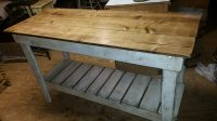 Kitchen Island Farm Table Style-Distressed-Work Table